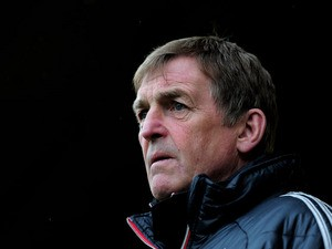 Kenny Dalglish the Liverpool manager looks on during the Barclays Premier League match between Norwich City and Liverpool at Carrow Road on April 28, 2012