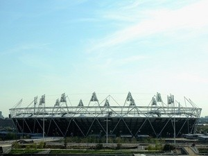 Generic shot of the London Olympic Stadium, Stratford on May 2, 2013