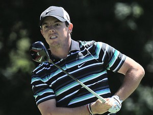 Rory McIlroy in action during the third day of the PGA Championship on August 10, 2013