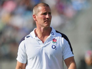 England coach Stuart Lancaster looks on before the First Test match between Argentina and England on June 8, 2013