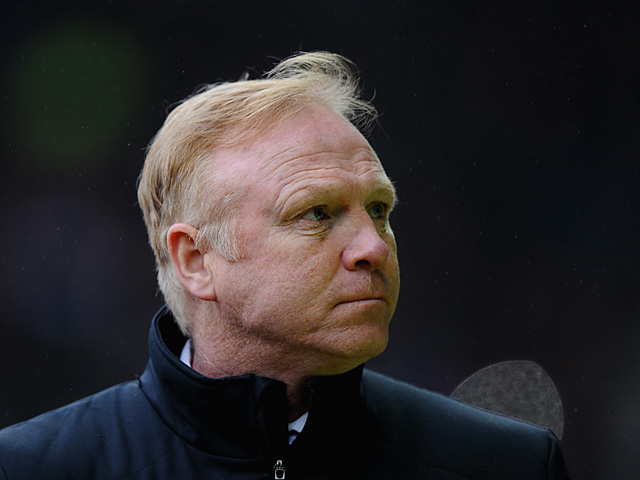 Forest manager Alex McLeish during the match against Derby on January 19, 2013