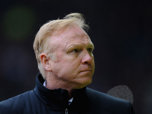 Alex McLeish of Nottingham Forest looks on during the npower Championship match between Derby County and Nottingham Forest at Pride Park Stadium on January 19, 2013