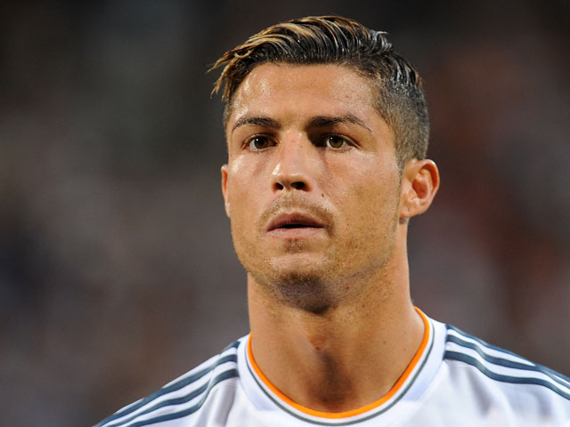 Cristiano Ronaldo of Real Madrid looks on prior to the Pre Season match between Olympique Lyonnais and Real Madrid on July 24, 2013
