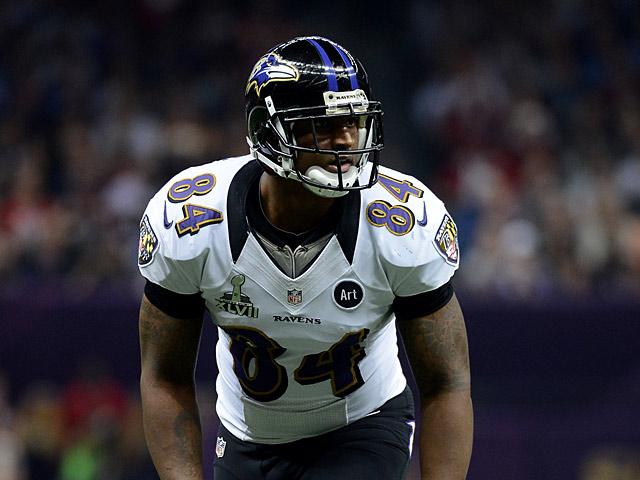 Baltimore Ravens' Ed Dickson in action on February 3, 2013