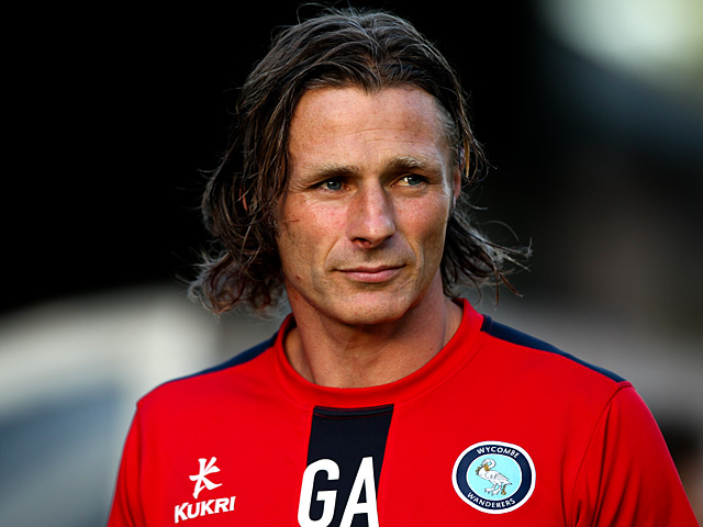 Wycombe manager Gareth Ainsworth during the League Cup tie against Leicester on August 6, 2013