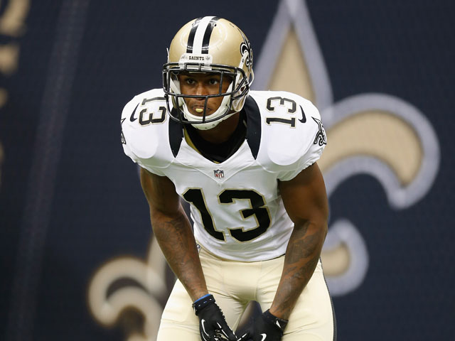 Joe Morgan of the New Orleans Saints during the game against the Jacksonville Jaguars on August 17, 2012