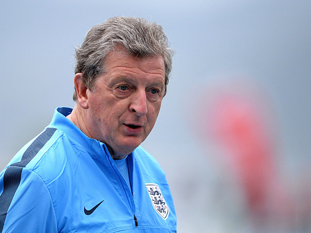 England manager Roy Hodgson during a training session on May 31, 2013