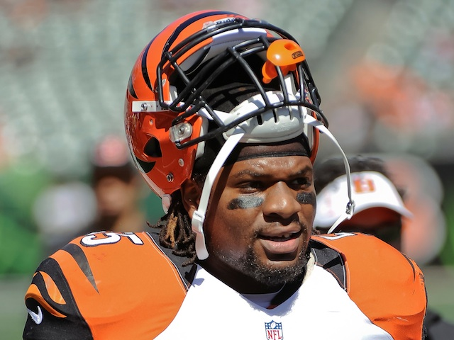 Bengals' Vontaze Burfict in action against Cleveland Browns on September 16, 2012