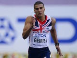 Britain's Adam Gemili competes during the men's 200 metres semi-final at the 2013 IAAF World Championships at the Luzhniki stadium in Moscow on August 16, 2013