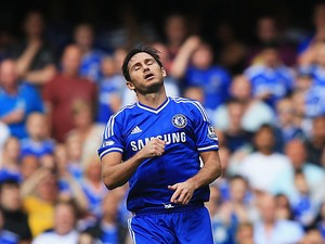 Chelsea's Frank Lampard reacts after having his penalty saved by Hull's Allan McGregor on August 18, 2013