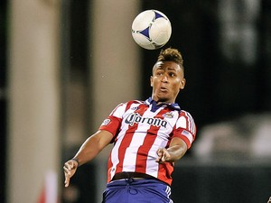Chivas' Juan Agudelo in action on September 19, 2012