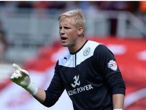 Kasper Schmeichel of Leicester City during their Sky Bet Championship match against Middlesbrough at the Riverside Stadium on August 3, 2013
