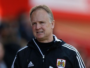 Bristol City manager Sean O'Driscoll looks on prior to the npower Championship match between Bristol City and Huddersfield Town at Ashton Gate Stadium on April 27, 2013