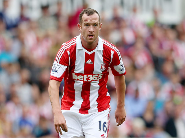 Charlie Adam of Stoke during a Pre Season Friendly between Stoke City and Genoa at Britannia Stadium on August 10, 2013