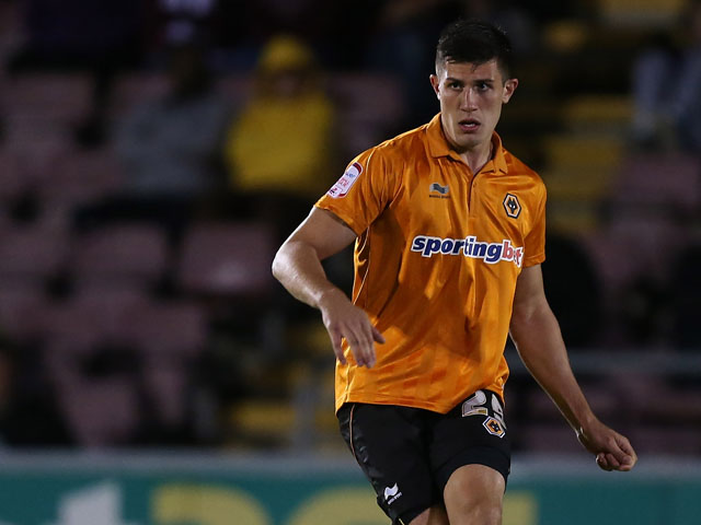 Danny Batth of Wolverhampton Wanderers in action during the Capital One Cup 2nd Round match between Northampton Town and Wolverhampton Wanderers at Sixfields Stadium on August 30,