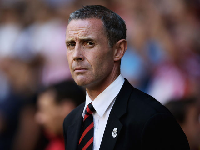 Sheffield United manager David Weir looks on during the Sky Bet League One match between Sheffield United and Notts County on August 2, 2013
