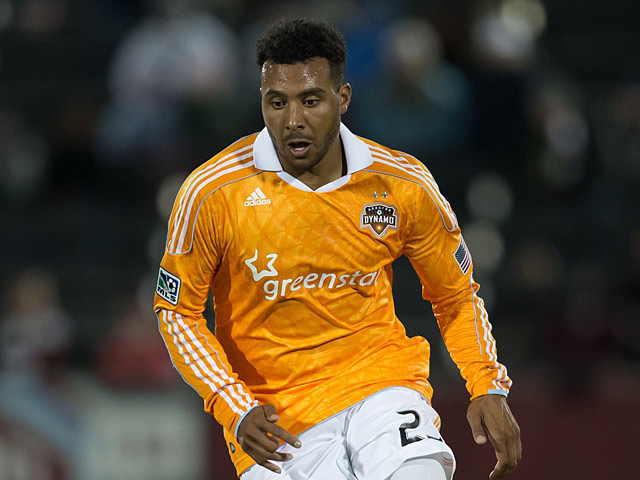 Houston Dynamo's Giles Barnes in action on October 27, 2012