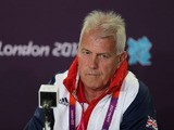 Brent Hills of Great Britain looks on during the Team GB Football press conference at the Olympic Park on July 16, 2012