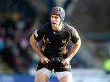 Chris Bell of Wasps looks on during the Aviva Premiership match between London Wasps and Gloucester at Adams Park on February 17, 2013