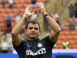 Former Inter midfielder Dejan Stankovic salutes the San Siro crowd on August 25, 2013