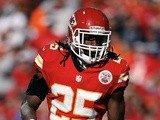 Kansas City RB Jamaal Charles in action against Denver on November 25, 2012