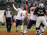 Bears QB Jay Cutler in action against Oakland on August 23, 2013