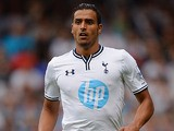 Tottenham's Nacer Chadli in action during a friendly match against Espanyol on August 10, 2013