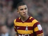Bradford's Nahki Wells in action against Burton Albion on May 2, 2013