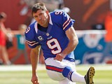 Buffalo Bills' Rian Lindell during a warm-up before the game against Miami Dolphins on December 23, 2012