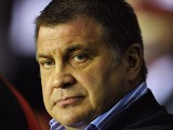 Wigan coach Shaun Wane during the Stobart Super League match between Wigan Warriors and Warrington Wolves at the DW Stadium on March 23, 2012