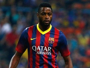 Barca midfielder Alex Song in action on August 10, 2013