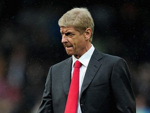 Arsenal manager Arsene Wenger prior to kick-off in the match against Fulham on August 24, 2013