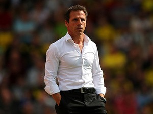 Waford boss Gianfranco Zola during the match against Nottingham Forest on August 25, 2013