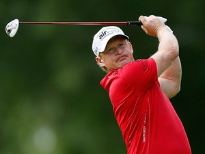 Jamie Donaldson in action during the Bridgestone Invitational on August 2, 2013