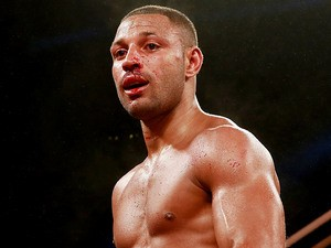 Kell Brook in action in his International Welterweight match against Carson Jones on July 13, 2013