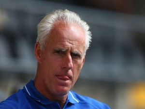 Mick McCarthy of Ipswich Town looks on during the pre season friendly match between Barnet and Ipswich Town at The Hive on July 20, 2013
