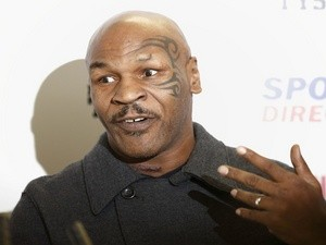 Ex-boxer Mike Tyson gives an interview in London on October 6, 2013