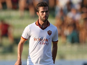 Miralem Pjanic of AS Roma in action during the pre-season friendly match between Ternana Calcio and AS Roma at Stadio Libero Liberati on August 17, 2013