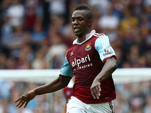 West Ham's Modibo Maiga in action against Cardiff on August 17, 2013