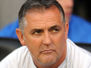 Wigan Athletic manager Owen Coyle prior to kick-off against Doncaster on August 20, 2013