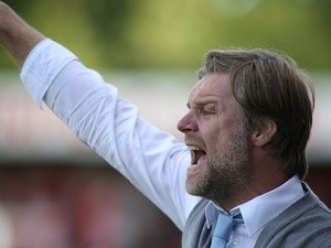 Coventry manager Steven Pressley on the touchline against Crawley on August 3, 2013