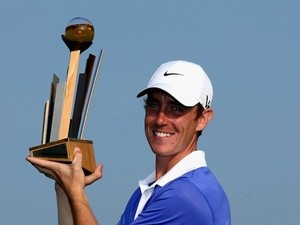 Tommy Fleetwood holds the Johnnie Walker Championship trophy on August 25, 2013