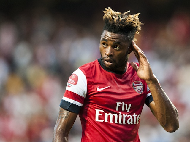 Then Arsenal midfielder Alex Song in action on July 29, 2012