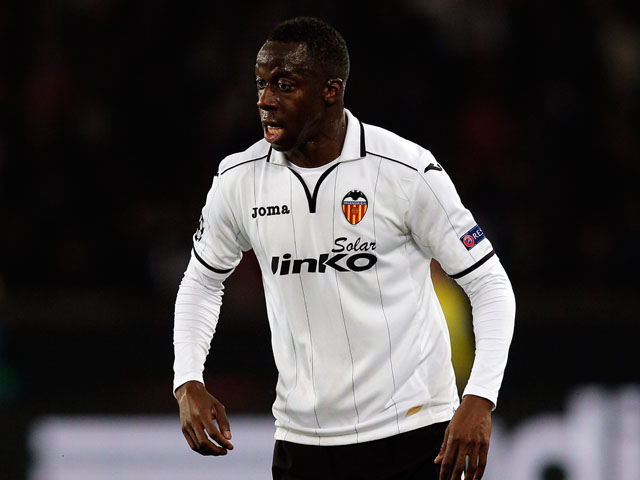 Aly Cissokho of Valencia in action during the Round of 16 UEFA Champions League match between Paris St Germain and Valencia CF at Parc des Princes on March 6, 2013