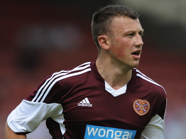 Hearts' Dale Carrick in pre-season action against Dunfermline on July 13, 2013