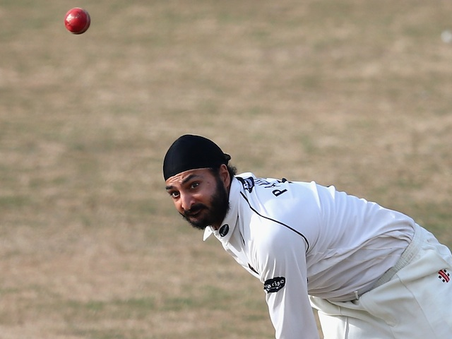 Sussex bowler Monty Panesar in action against Australia on July 28, 2013