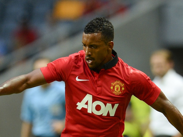 United winger Nani in action against AIK on August 6, 2013