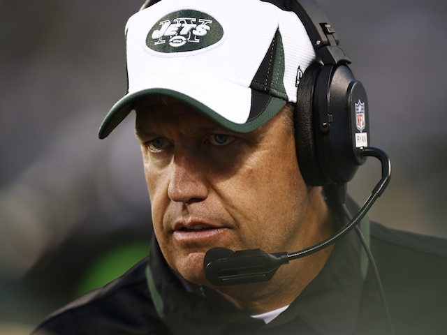 Jets coach Rex Ryan during a game with Jacksonville on August 17, 2013