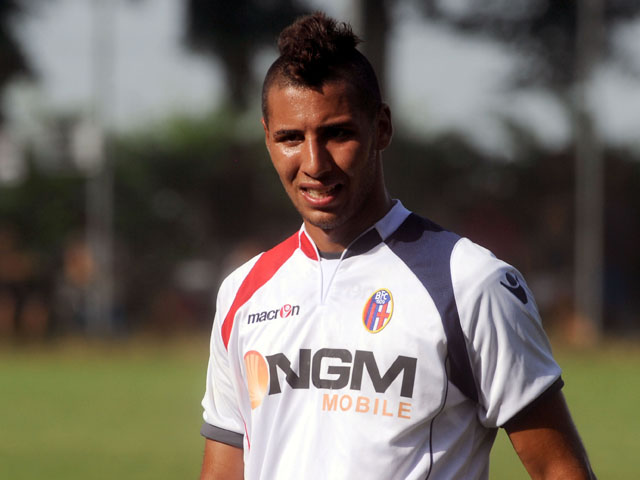 Saphir Taider of Bologna fc looks over during the pre-season friendly match between FC Bologna and Carpi FC on August 3, 2013