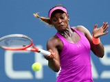 Sloane Stephens in action against Serena Williams during their US Open third round match on September 1, 2013